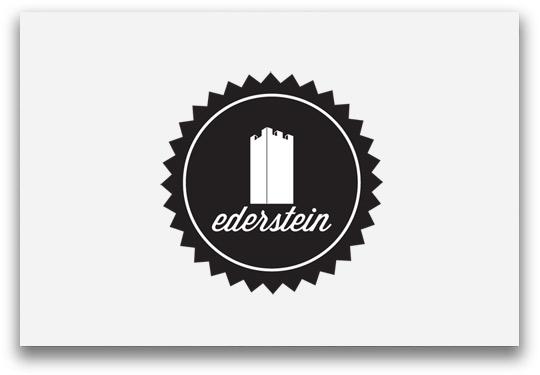 Ederstein Logoentwicklung rund mit Burg