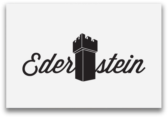 Ederstein Logoentwicklung mit Burg als Trenner
