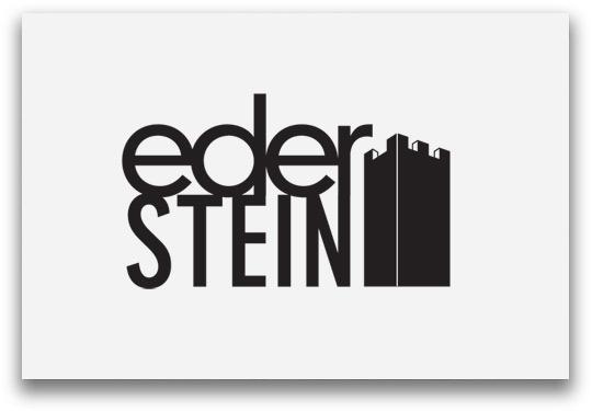 Ederstein Logoentwicklung mit Burg zweizeilig